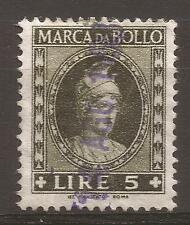 1958 REPUBBLICA MARCA L. 5 DEA ROMA TESTA PICCOLA CON TIMBRO 14-8-1958 PERFETTA