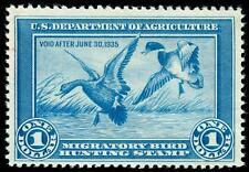 momen: US Stamps #RW1 Duck Mint OG NH VF