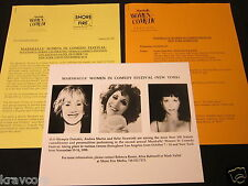 BEBE NEUWIRTH/OLYMPIA DUKAKIS 'WOMEN IN COMEDY FESTIVAL' 1999 PRESS KIT--PHOTO