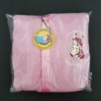 NEW Pink Brown Damask Satin Fleece Childrens Blanket//Pillow Case Baby Gift