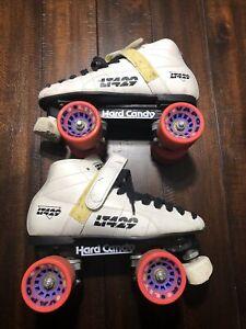 Vintage Labeda Pacer LT429 Hard Candy Roller Skates Size 6 White Black