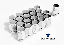 "7/16"" x20 +1 HOLDEN CHEV HQ HZ Hj HZ WB CAMARO 19mm HEX CHROME WHEEL NUTS 15"""