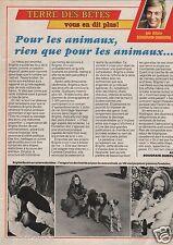 Coupure de presse Clipping 1987 Brigitte Bardot   (1 page)