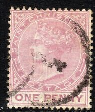 St Kitts-St Christopher 1882 dull-magenta 1d perf 14 crown CA used SG12