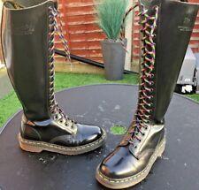 Vintage Dr Martens 1420 black leather boots UK 4 EU 37 Made in England