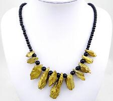 Titanium Crystal Agate Druzy Quartz Geode Stone Gemstone necklace 002