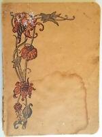 antico Quaderno dello studente scuola elementare righe con margine1960 vintage
