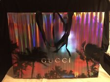 Gucci grand sac cadeau shopping Noël 2019 palmiers laser