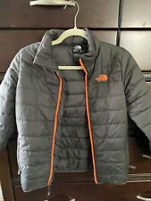 The North Face Black/Grey Full Zip Boy'S Zip Pocket Jacket Size M/M (10/12)