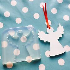 CHRISTMAS ANGEL MOLD - 70mm Resin Jewellery Decoration Tree Silicone Craft