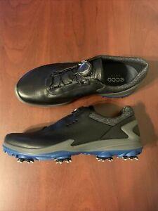 ECCO BIOM G3 BOA Spikes Golf Shoes Gore Tex Men's Size 9-9.5 (EU 43) Black NEW