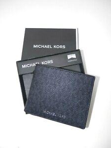 Michael Kors 'Jet Set' Homme Graphique Bi-Pliable Portefeuille 2-Fold (Noir) En