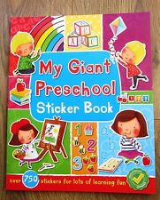 Giant Preschool Educational Activity Book Stickers Numbers 3 4 Alphabet NEW