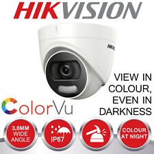 HIKVISION DOME CAMERA COLOUR AT NIGHT 2MP FULL HD 1080P CCTV 4 IN 1 TVI AHD DVR