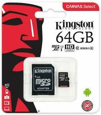 Kingston Sdcs / 64GB Micro SD Canvas Select Speeds Der Class 10 UHS-I