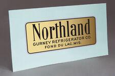 PRE CUT NORTHLAND GURNEY  REFRIGERATOR Co. WATER SLIDE DECAL FOR RESTORATION