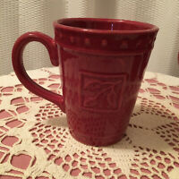 Sorrento Debby Segura 2007 for Signature Large Red Coffee Mugs