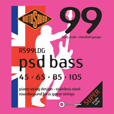 Rotosound Rs99Ldg Psd Bass Stainless Steel Bass Strings 45-105 Piano String Desi