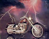 1971 XLH Harley Davidson Sportster Vintage Motorcycle Wall Decor Art Print 8x10