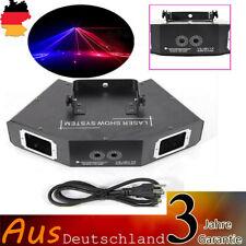 RGB 4 Lens DMX Laser Stage Light DJ Disco Show DJ Party Laser Licht 500mW NEU