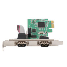 RS232 9 PIN Ports Serial PCI E Express Expansion Card Adapter For Windows 7