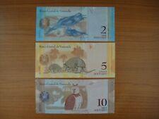 Lot de 3 billets Vénézuela
