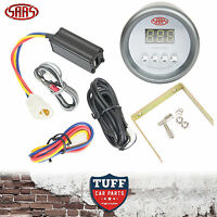 SAAS Turbo Timer Digital Gauge White Face Dial 52mm Multi Colour + Fitting Kit