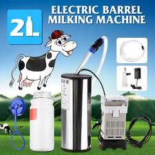2L Electric Milking Machine Sheep Goat Cow Milk Bucket Tank Milker Vacuum Pump