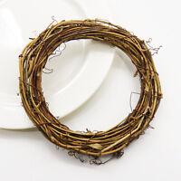 DIY Natural Vine Ring Wreath Rattan Wicker Garland Home Door Hanging Ornaments