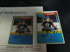 1980 TOPPS WAYNE GRETZKY AUTOGRAPHED HOCKEY TRADING CARD JSA Certified