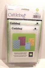 Cuttlebug Emboss Sentimentals Cricut Companions Set of 4 Embossing Stencils NEW