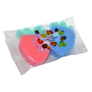 Frootz 2 Pack Bath & Shower Sponges - Fun Bath/Shower Time