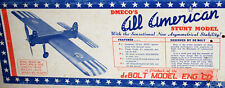 Vintage ALL AMERICAN STUNT & TRAINER TWO PLANS for deBolt's UC Model Airplanes