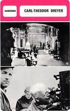 FICHE CINEMA :  CARL-THEODOR DREYER -  Danemark (Biographie/Filmographie)