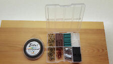 50lb Pike & Game Fishing Trace Making Kit.300 Pieces + a 10 Section Tackle Box.