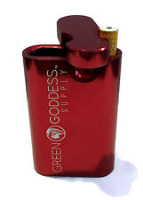 """3"""" Anodized Aluminum Tobacco Case - Red - Green Goddess Supply"""