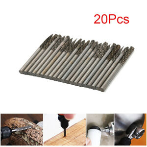 "20Pcs 1/8"" Shank Tungsten Carbide Burr Rotary Drill Bits Tools Cutter Files Set"