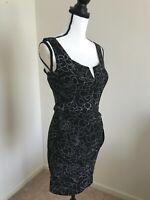 Trixxi  women's sleeveless black dress size M floral design NWT