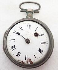 ANTIQUE COIN SILVER KEY WIND FUSEE POCKET WATCH PARTS REPAIR