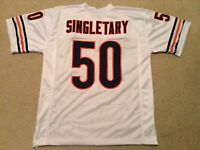 UNSIGNED CUSTOM Sewn Stitched Mike Singletary White Jersey - M, L, XL, 2XL