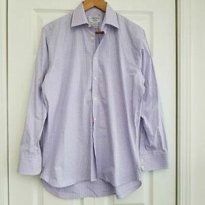 Charles Tyrwhitt Buttondown Shirt Long Sleeve Lavender Check 15-1/2/35 Cotton