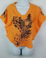 RASAKI Women T-Shirt Graphic Tee Cotton Short Sleeve Size Medium