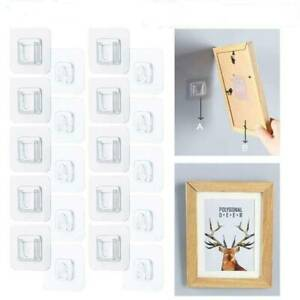 10Pcs  Double-sided Adhesive Wall Door Hooks For Home Life Hangging Accessory
