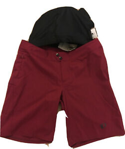 Pearl Izumi Canyon Womens Cycling Shorts With Chamois Liner Size 10 Beet Red NWT