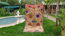Vintage Moroccan Hand Woven by Berber Rug Azilal /Berber Carpets 7'10''/4'4''
