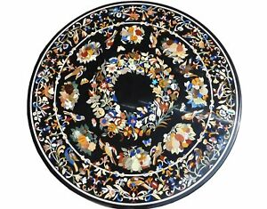 "48"" marble sofa center Table Top semi precious stones inlaid art handicraft work"