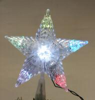MULTI COLOR LIGHT CHANGING CHRISTMAS TREE TOP STAR CHRISTMAS DECORATION