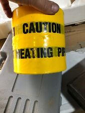 CAUTION Heating Pipes Below.  Underground buried cable warning tape