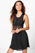 Vestido largo de mujer de color principal negro de chifón