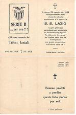 CALCIO DERBY ROMA LAZIO NECROLOGIO LAZIO IN B 1971 CHINAGLIA RE CECCONI WILSON